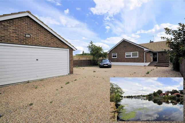 Thumbnail Detached bungalow for sale in The Island, Wraysbury, Berkshire