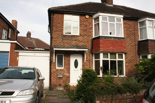 Thumbnail Semi-detached house to rent in Woodburn Avenue, Fenham, Newcastle Upon Tyne