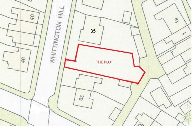 Thumbnail Land for sale in Whittington Hill, Old Whittington, Chesterfield