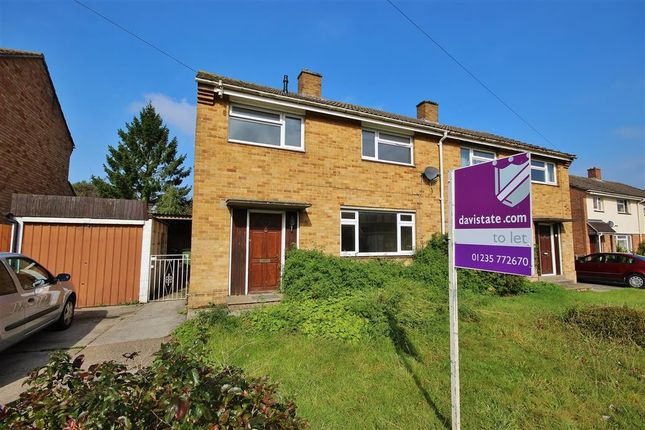 Thumbnail Semi-detached house to rent in Wasbrough Avenue, Wantage