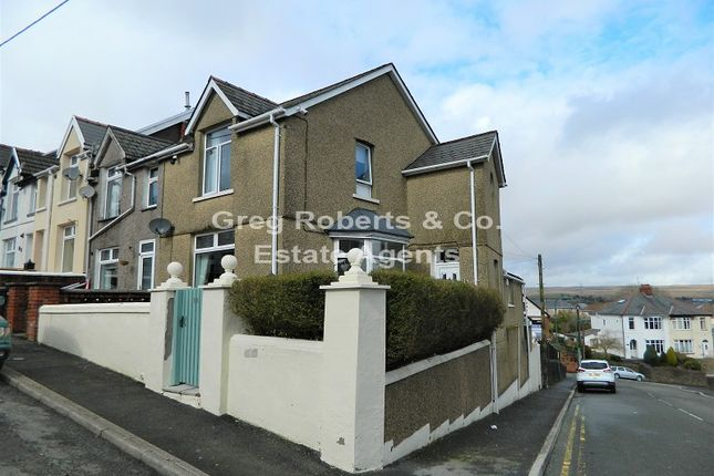 Thumbnail End terrace house for sale in Bournville Terrace, Tredegar, Blaenau Gwent.