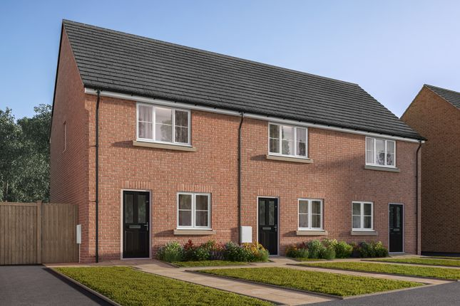 "Thumbnail Terraced house for sale in ""The Harcourt"" at Amos Drive, Pocklington, York"