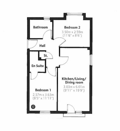 Thumbnail Flat to rent in Cei Tir Y Castell, Barry