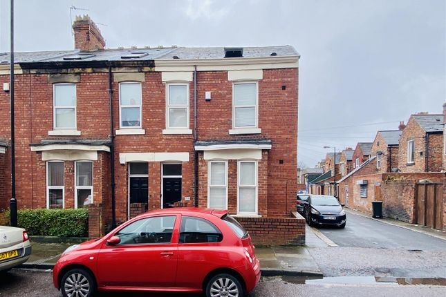 Thumbnail End terrace house for sale in Cardigan Terrace, Heaton, Newcastle Upon Tyne