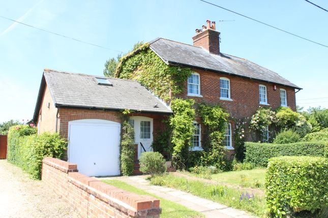 Thumbnail Semi-detached house for sale in Hornhill Cottages, Sanham Green, Hungerford