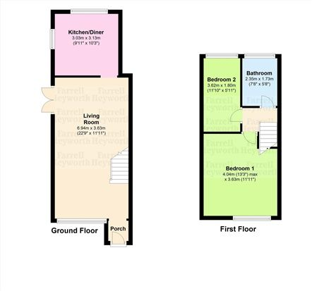 Floor Plan of Kiln Croft, Chorley PR6