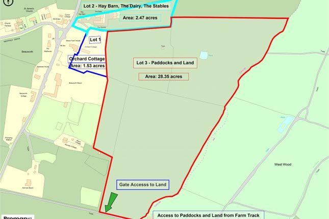Land Plan of Beauworth, Alresford, Hampshire SO24