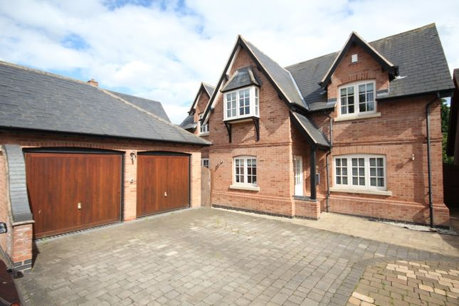 Thumbnail Detached house for sale in Carlyon Court, Kirby Muxloe, Leicester