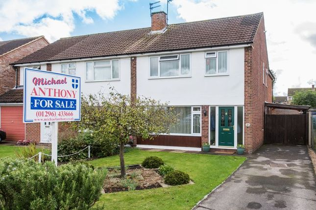 Thumbnail Semi-detached house for sale in Craigwell Avenue, Aylesbury