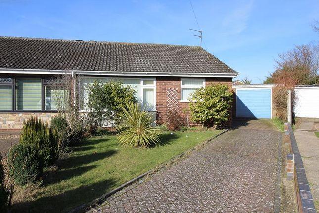 Thumbnail Semi-detached bungalow for sale in Fastolf Close, Hellesdon, Norwich