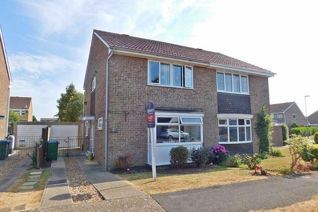Thumbnail Semi-detached house to rent in Jersey Close, Stubbington, Fareham
