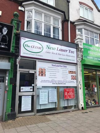 Retail premises to let in High Street, Erdington