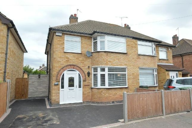 Thumbnail Semi-detached house for sale in Cedar Road, Blaby, Leicester