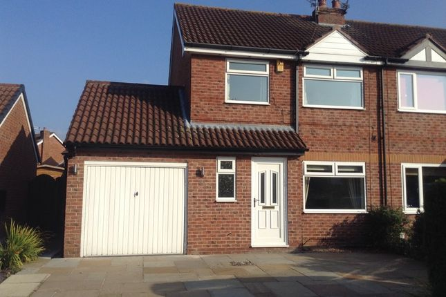 Thumbnail Semi-detached house to rent in Barnaby Road, Poynton, Cheshire