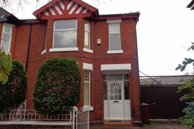 Thumbnail Semi-detached house to rent in Gloucester Avenue, Levenshulme, Manchester