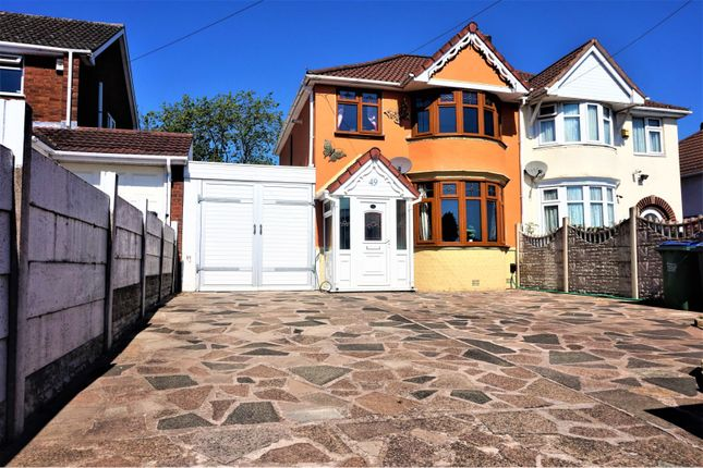Thumbnail Semi-detached house for sale in Throne Crescent, Rowley Regis