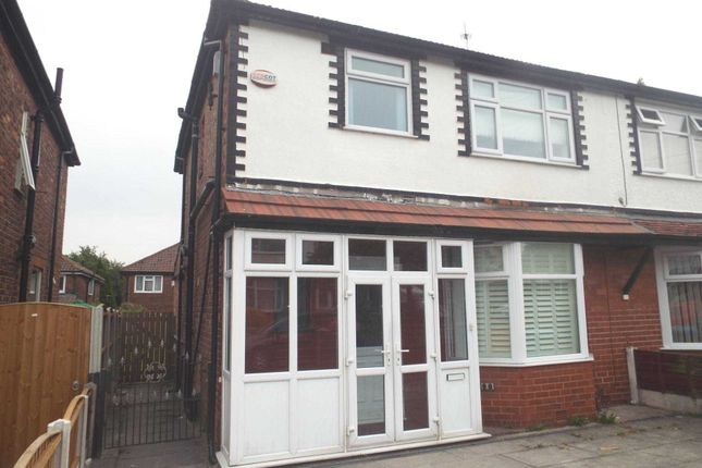 Thumbnail Semi-detached house to rent in Cedric Road, Manchester