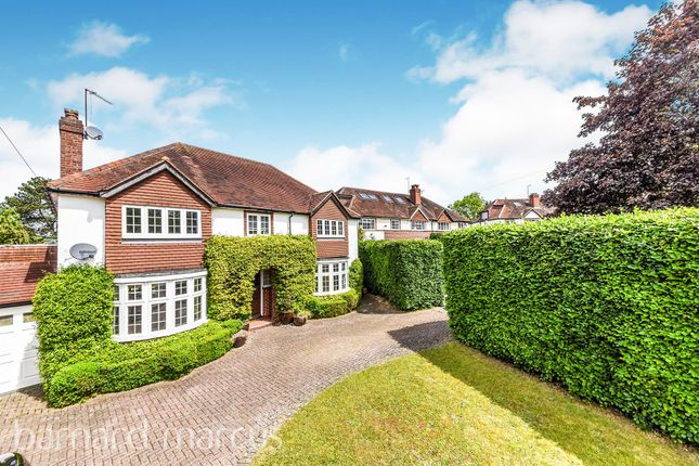 Thumbnail Detached house for sale in Roundwood Way, Banstead