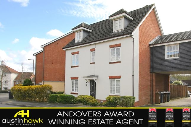 Thumbnail Town house for sale in Berry Way, Andover