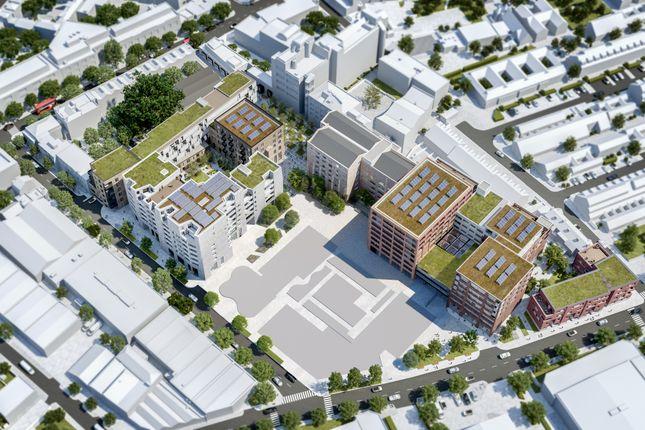 Aerial CGI of 58 Grange Road, Bermondsey SE1