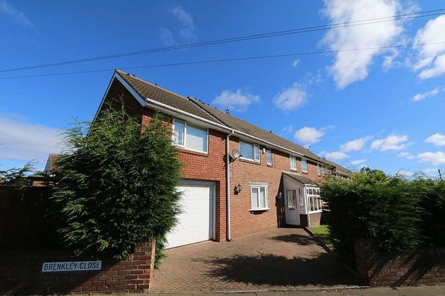 Thumbnail Semi-detached house for sale in Brenkley Close, Dinnington, Newcastle Upon Tyne