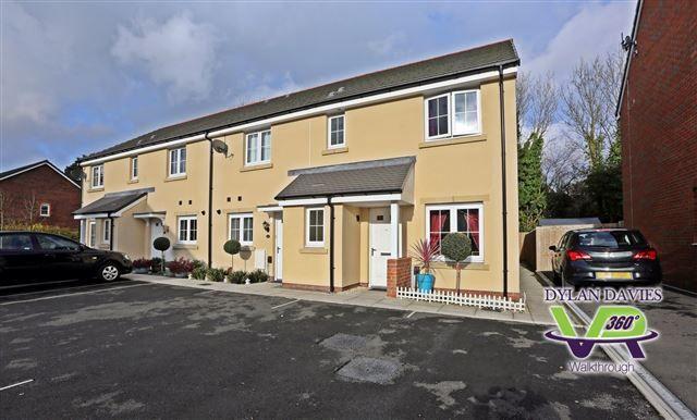 Thumbnail End terrace house for sale in Parc Y Dyffryn, Rhydyfelin, Pontypridd