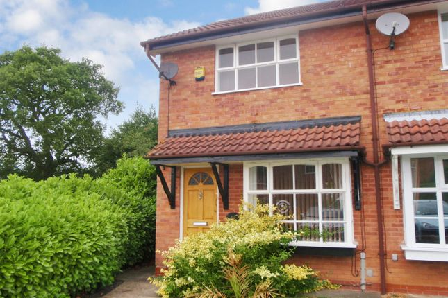 Thumbnail End terrace house to rent in Lordswood Close, Redditch