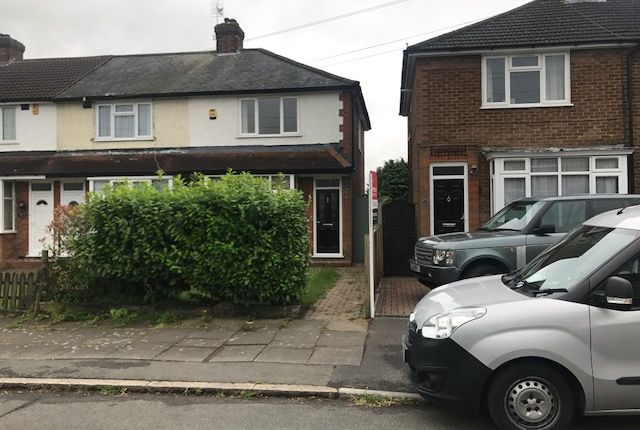 Thumbnail End terrace house to rent in Chesford Road, Stopsley, Luton
