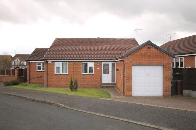 Thumbnail Detached bungalow for sale in Longshaw Close, North Wingfield, Chesterfield