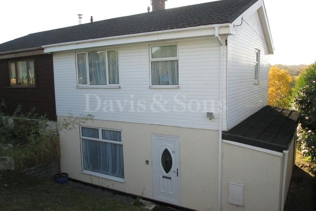 Thumbnail Semi-detached house for sale in Keir Hardie Terrace, Swffryd Crumlin, Newport, Gwent.