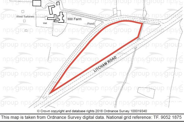 Thumbnail Land for sale in Mill Farm, Old Litcham Road, Mileham, King's Lynn, Norfolk