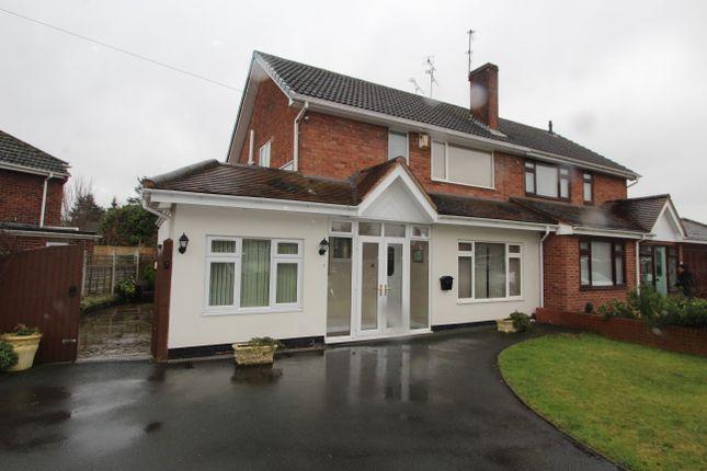Thumbnail Semi-detached house to rent in Taunton Avenue, Wolverhampton