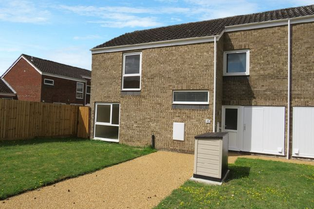 Thumbnail End terrace house for sale in Walnut Close, Raf Lakenheath, Brandon