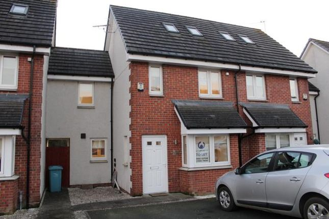 Thumbnail Town house to rent in Millgate Crescent, Caldercruix, Airdrie