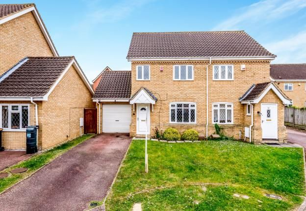 Thumbnail Semi-detached house for sale in Pinsent Avenue, Bromham, Bedford, Bedfordshire