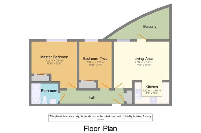 Floor Plan of Freshwater Road, Chadwell Heath, Romford RM8
