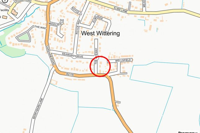 Map-Street of The Byeway, West Wittering PO20