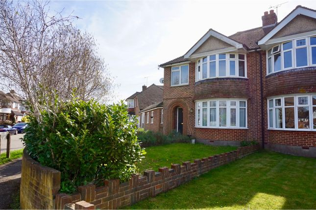 Thumbnail Semi-detached house for sale in Whyke Road, Chichester