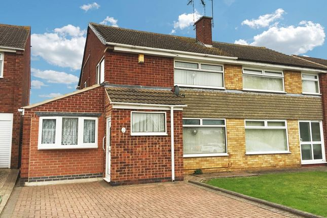 Thumbnail Semi-detached house for sale in Shelley Road, Enderby, Leicester