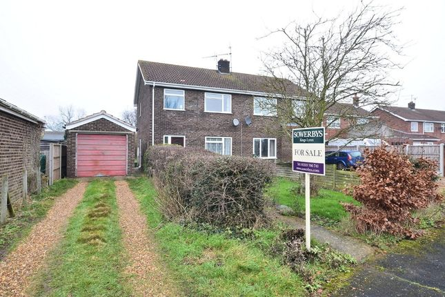 Thumbnail Semi-detached house for sale in Hawthorn Avenue, Grimston, King's Lynn