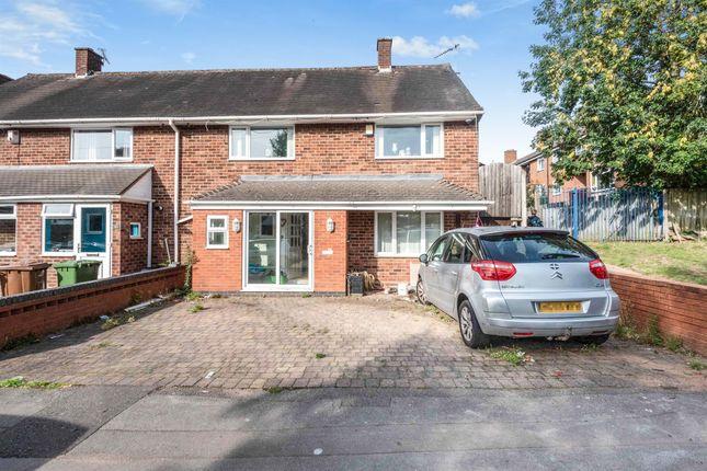 Thumbnail End terrace house for sale in Yorks Wood Drive, Kingshurst, Birmingham