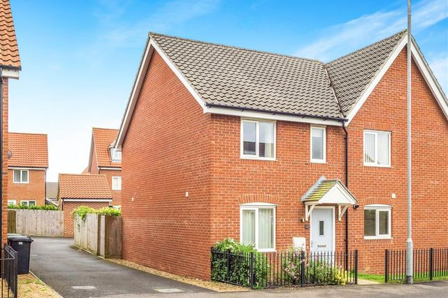 Thumbnail Semi-detached house for sale in Dragonfly Lane, Cringleford, Norwich