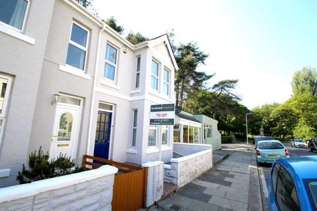 Thumbnail End terrace house to rent in Trelawney Road, Peverell, Plymouth