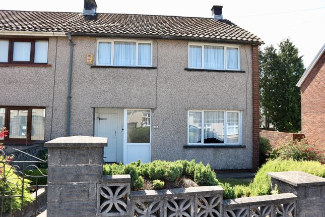 Thumbnail End terrace house for sale in Laburnum Close, Gurnos, Merthyr Tydfil