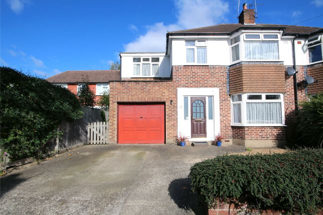 Thumbnail Semi-detached house for sale in Holmwood Close, Addlestone