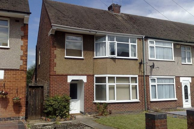 Thumbnail End terrace house to rent in 3 Bedroom, Part-Furnished, End Terraced House, Keats Road, Coventry.