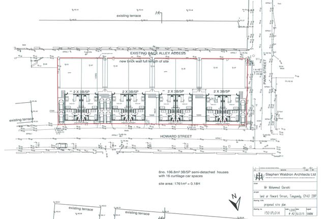 Thumbnail Land for sale in Howard Street, Clydach Vale, Tonypandy
