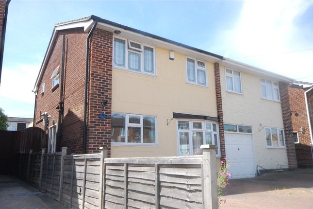 Thumbnail Semi-detached house for sale in Woodcote Way, Benfleet, Essex
