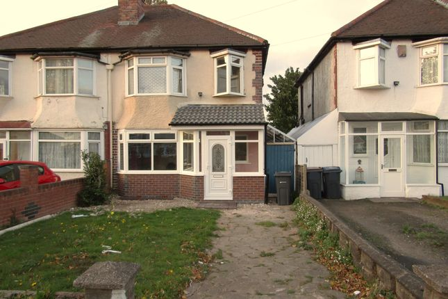 Thumbnail Semi-detached house to rent in Morris Road, Ward End, Birmingham