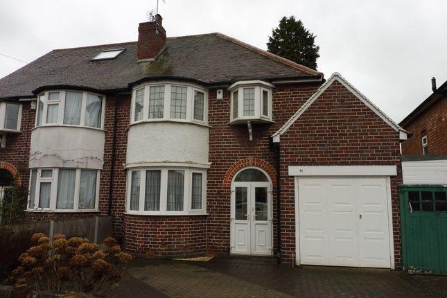 3 bed semi-detached house for sale in Woodcote Road, Erdington, Birmingham